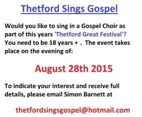 Thetford Sings Gospel