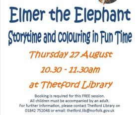 Elmer the Elephant Storytime & Colouring Fun