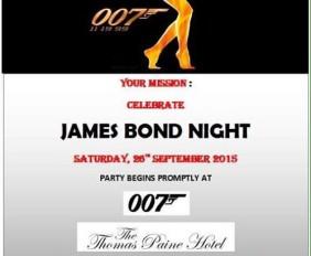 James Bond Themed Casino Night at The Thomas Paine Hotel