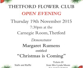 Thetford Flower Arranging Club